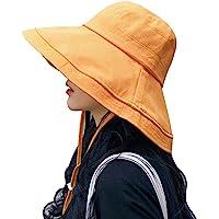 UVカット帽子 つば広 小顔効果 マジックテープ調節 あご紐 風で飛ばない 紫外線カット レディースハット 大きいサイズ…