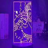Anime Lamp Hunter X Hunter 3D Hisoka Night Light for Kid Bedroom Decor Kids Birthday Gift LED Remote Control USB Colorful Nig