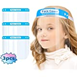Kids Face Protective Shield Mask for Kids - Anti-Fog Full Face Cover with Clear Film, Clear Visor Transparent Safety Shield w
