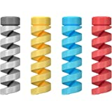 ATOLL Cable Protector (4-Pack) - Charger Protectors - Cord Protector Compatible with iPhone, iPad, MacBook Charger - Cord Sav