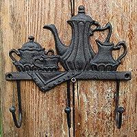 MXD フック ヨーロピアンレトロ 田舎風 クリエイティブ 鋳鉄工芸 アンティークフック ガーデン 壁掛け 壁装飾 コートフック フラゴン