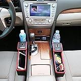 車用収納ポケット シートサイド収納 高級なレザー素材 2点セット