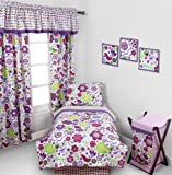 Best Bacati布団セット - Botanical Purple 4 pc Toddler Bedding Set Review