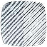 白山陶器 重ね縞 反角中皿 16.5x16.5cm
