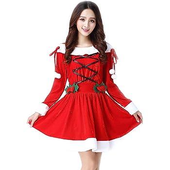 8353e5743c197 クリスマス サンタ コスプレ 衣装 レディース サンタクロース 仮装 サンタコス セクシー 可愛い コスチューム セット ワンピース パーティー 大人  レッグ