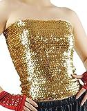 DFギャラリー チューブトップ ダンス衣装 スパンコール ロング丈 CA0055 ゴールド フリー