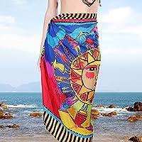 (Color 4) - Bhbuy Chiffon Sarong Wrap Beach Shawl Dress Bikini Cover Up Scarf (Colour 4)