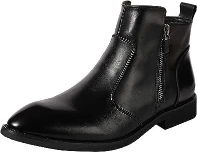 [Isome] レインブーツ ビジネスブーツ 防滑 完全防水 ハイカットレインシューズ 梅雨対応 男女兼用ブーツ シンプル カジュアルブーツ