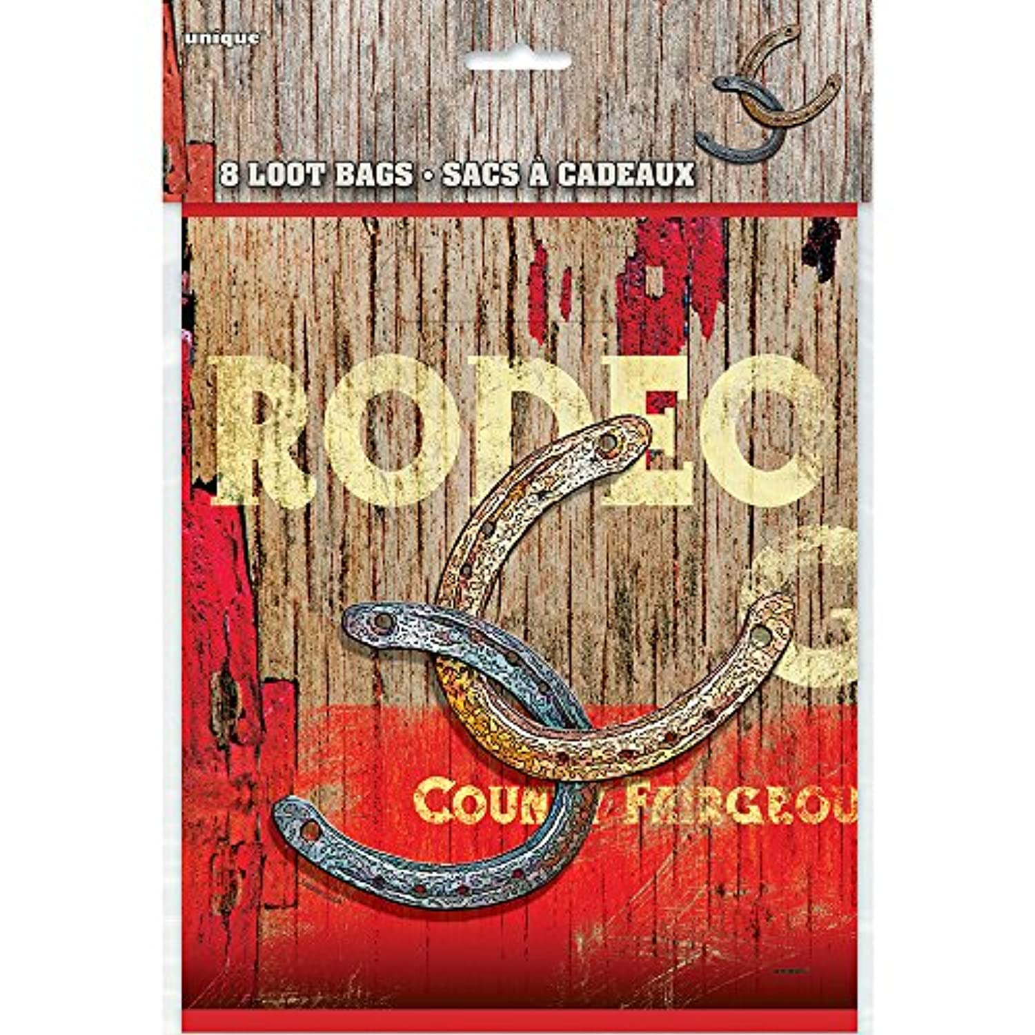 (Loot Bags) - Rodeo Western Party Bags, Pack of 8