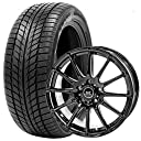 スタッドレスタイヤ ホイールセット 215/65R16 4本セット (ブラック)(GOODRIDE) 2017年製 スノータイヤ SW608