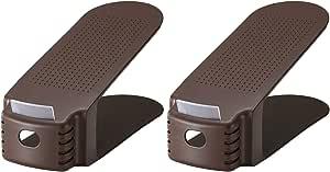 ライクイット ( like-it ) 靴 収納 くつホルダー 2P 幅10x奥26x高13.5cm ブラウン 日本製