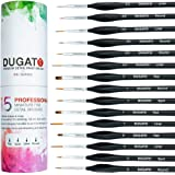 (XVI) - Detail Paint Brush Set By DUGATO - Minute Series XVI 15pc Miniature Paint Brush Set With Ergonomic Triangular Handles