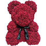 feelingood 25cm Foam Rose Bear Romantic Flower Bear for Valentine Birthday Wedding Anniversaries
