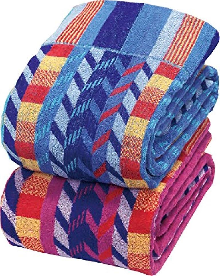 芝生子羊エレガントワイド&ロングボリュームタオルケット ボディタオル付シングル2色組 03150