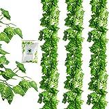 JPSOR フェイクグリーン 人工観葉植物 アイビー 造花 32本 壁掛け インテリア 結婚式 グリーン ウォール デコレーション 植物装飾