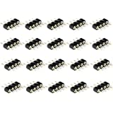 VIPMOON 100 Pcs 4 Pin Male to Male LED Strip Lights Connectors,for SMD 3528 5050 RGB LED Strip Lighting