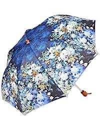 レディース 傘 おしゃれな 名画シリーズ 49cm 折りたたみ傘 ルノワール ホワイトフラワー