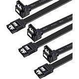 BENFEI SATA ケーブル L型 Sata3 シリアル ATA3 ケーブル 3本セット 6 Gbps対応 47cm SSDとHDD増設 ブラック