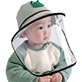 MEGICOT Baby 5-14 Months Protective Hats with Detachable Safety Face Shield, Anti-Fog Anti-saliva Anti-Spitting Full Face Gua