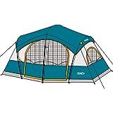 UNP Tents for Camping with 1 Mesh Door & 5 Large Mesh Windows (14' x 14' x78in)- 8 Person Tent Waterproof Windproof Easy Setu