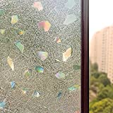 (laser) - Bloss Window Film Premium No Glue 3d Static Decorative Frosted Privacy Window Films for Glass,0.5m X 2m