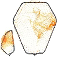 太パイプ径10mm 折り畳み 68×59cm ガンメタ LLサイズ 玉枠 網セット 4ピース コンパクト ランディングネット アルミフレーム