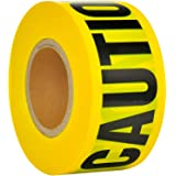 VICMORE Yellow CAUTION Tape 3-Inch by 1000-Feet Strong Barricade Tape Heavy-duty 2 Mil Thick Construction Tape Safety Barrier
