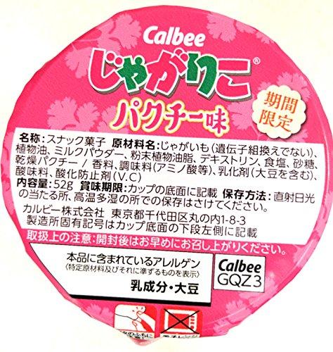 【販路限定】カルビー じゃがりこ パクチー味 52g×12個