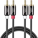 CableCreation RCA Cable,Cable, 16FT 2RCA Male to 2RCA Stereo Audio Cable Gold-Plated Compatible with Speaker, AMP,Turntable,R