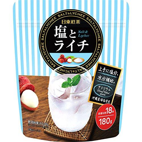 日東紅茶 塩とライチ 180g×3袋