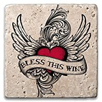 Epic Products Winged Heart Stone Coasters ( Set of 2)、マルチカラー