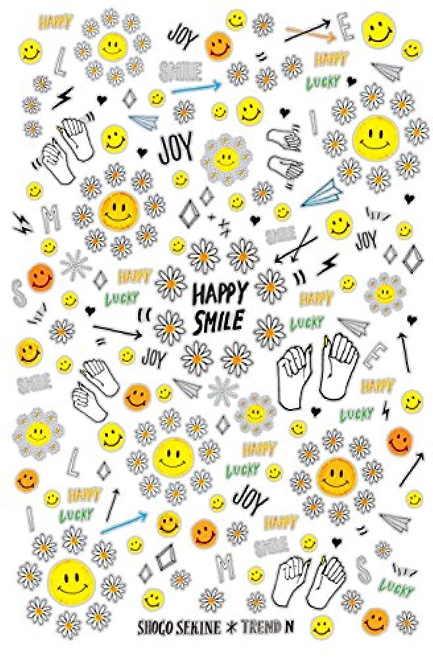高価な干渉額トレンドN ネイルシール HAPPY SMILE