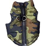 AU-FAFAFA Butterfly Pattern Camouflage Small Dog Zip up Vest with D-Ring (S)