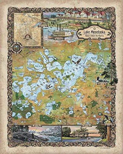 259-customマップの湖ミネトンカヴィンテージHist...