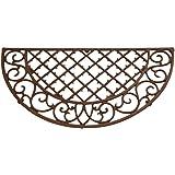 """Esschert Design Cast Iron Doormat - Half Round 26"""" x 13"""" (LH46)"""