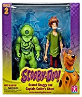 Scooby Doo Series 2 Scared Shaggy and Captain Cutler's Ghost Action Figures [並行輸入品]