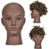 Afro America Professional Cosmetology Mannequin Head Female Bald Hairdressing Training Head Doll Head, Wigs Making, Hat, Sung
