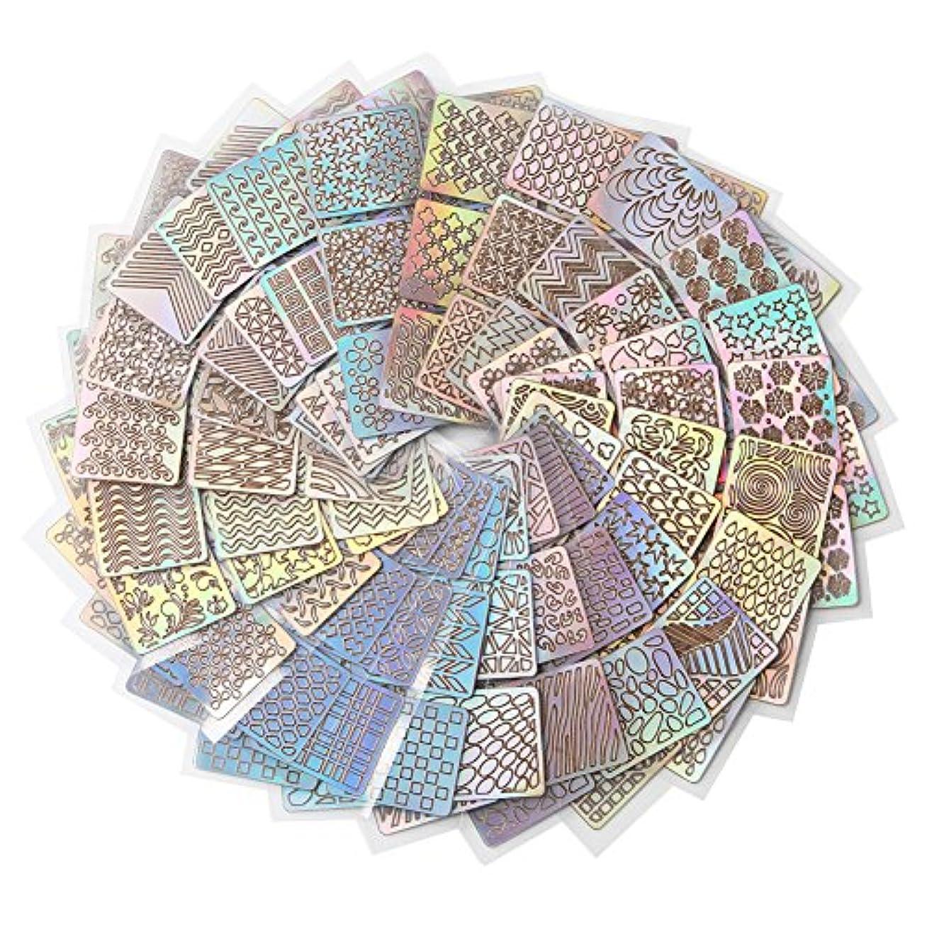 Demiawaking ネイル用装飾 可愛いネイル飾り テープ ネイル パーツ ネイルーシール 今年流行ネイティブ柄ネイルステッカー 24枚セット