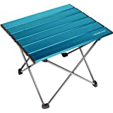 Trekology Portable Camping Table with Aluminum Table Top, Hard-Topped Folding Table in a Bag for Picnic, Camp, Beach, Useful