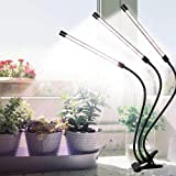 クリップ式LED植物育成ライト 屋内植物成長ランプ、75W 126LED植物ランプ、小さな植物に最適、360°グースネック、タイマー設定4/8 / 12H、フルスペクトル、5つの調光レベル