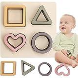 HETOMI Baby Soft Stacking Toys Safe Foodgrade Slicone Montessori Sensory Toy for 3+ Months Boys Toddler