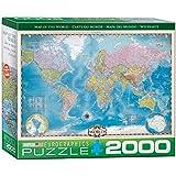 世界 2000年ピースのパズルの地図