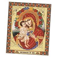 SONONIA DIY 宗教アイコン ダイヤモンド 刺繍 絵画 ラインストーン クロスステッチ 装飾 全4タイプ - タイプ1