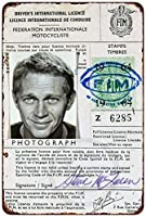 Steve Mcqueen MotorcycleライセンスVintage Reproduction Metal Sign 8x 12