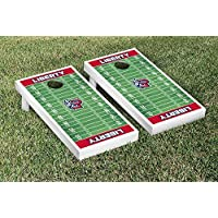 Liberty Flames regulation Cornhole Game Setフットボールフィールドバージョン