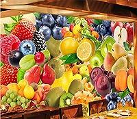 壁紙 3d 壁画 新鮮なフルーツの壁画、フルーツショップのレストランの装飾の背景の様々な (W)430x(H)300cm