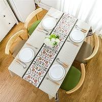Kooyi テーブルクロス テーブルカバー 防水防油 撥水 厚手 北欧 PVC (137x185cm, 北欧-2)