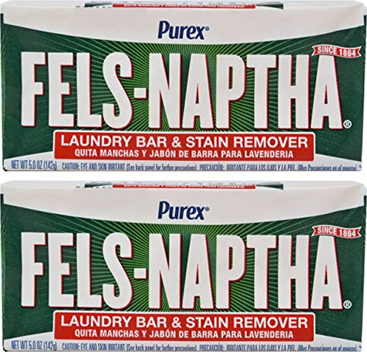 申込み雄弁な小川Fels Naptha Heavy Duty Laundry Soap Bar - 5.5 oz - 2 pk by Fels Naptha