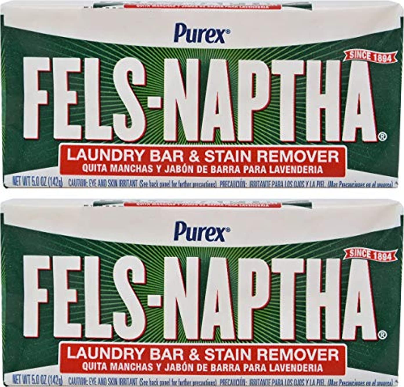 ペルソナ習熟度透明にFels Naptha Heavy Duty Laundry Soap Bar - 5.5 oz - 2 pk by Fels Naptha