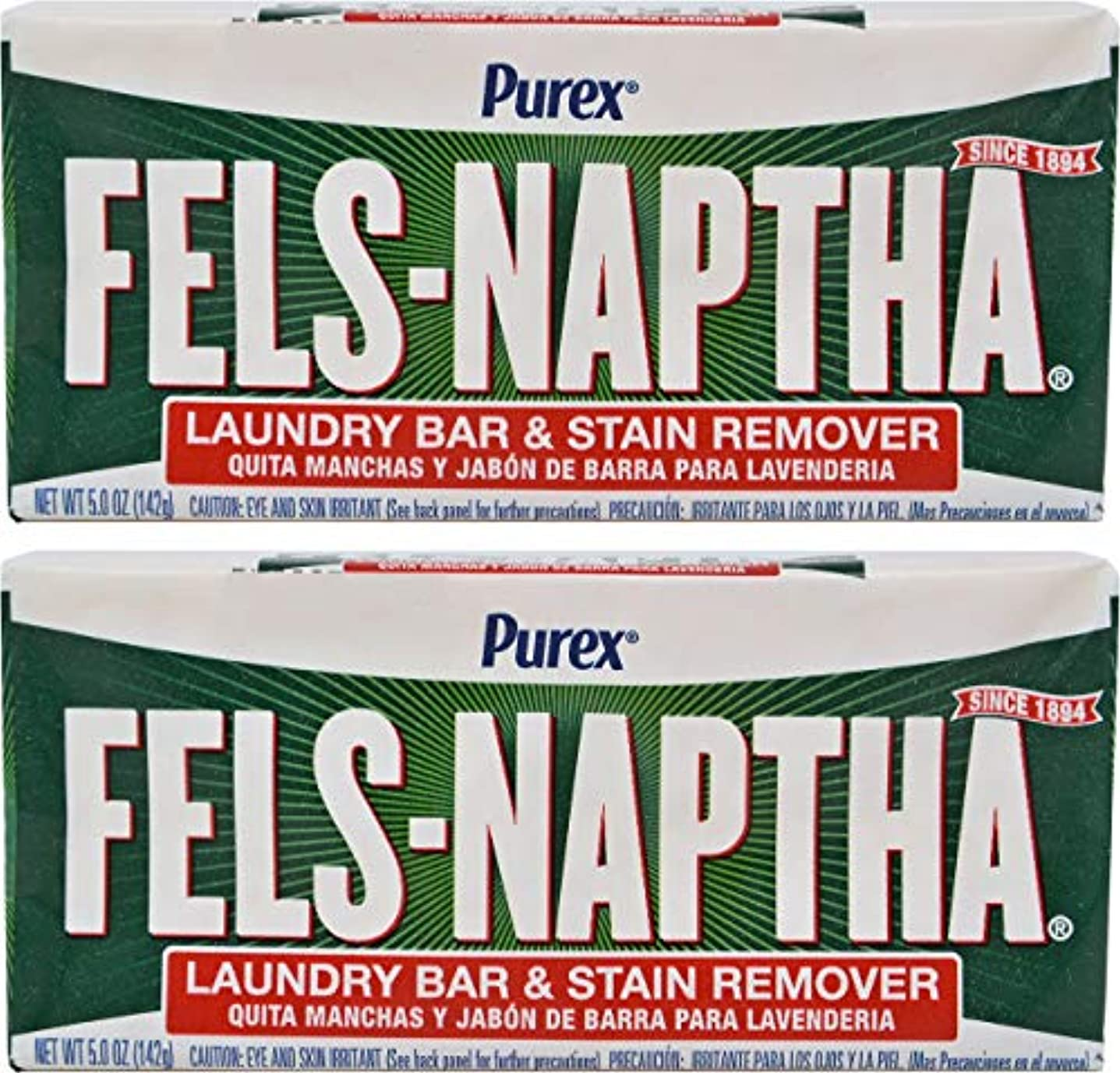 ただやる慣性固めるFels Naptha Heavy Duty Laundry Soap Bar - 5.5 oz - 2 pk by Fels Naptha